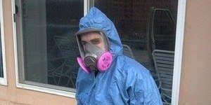 One Of Rocky's Technician On A Mold Removal Job